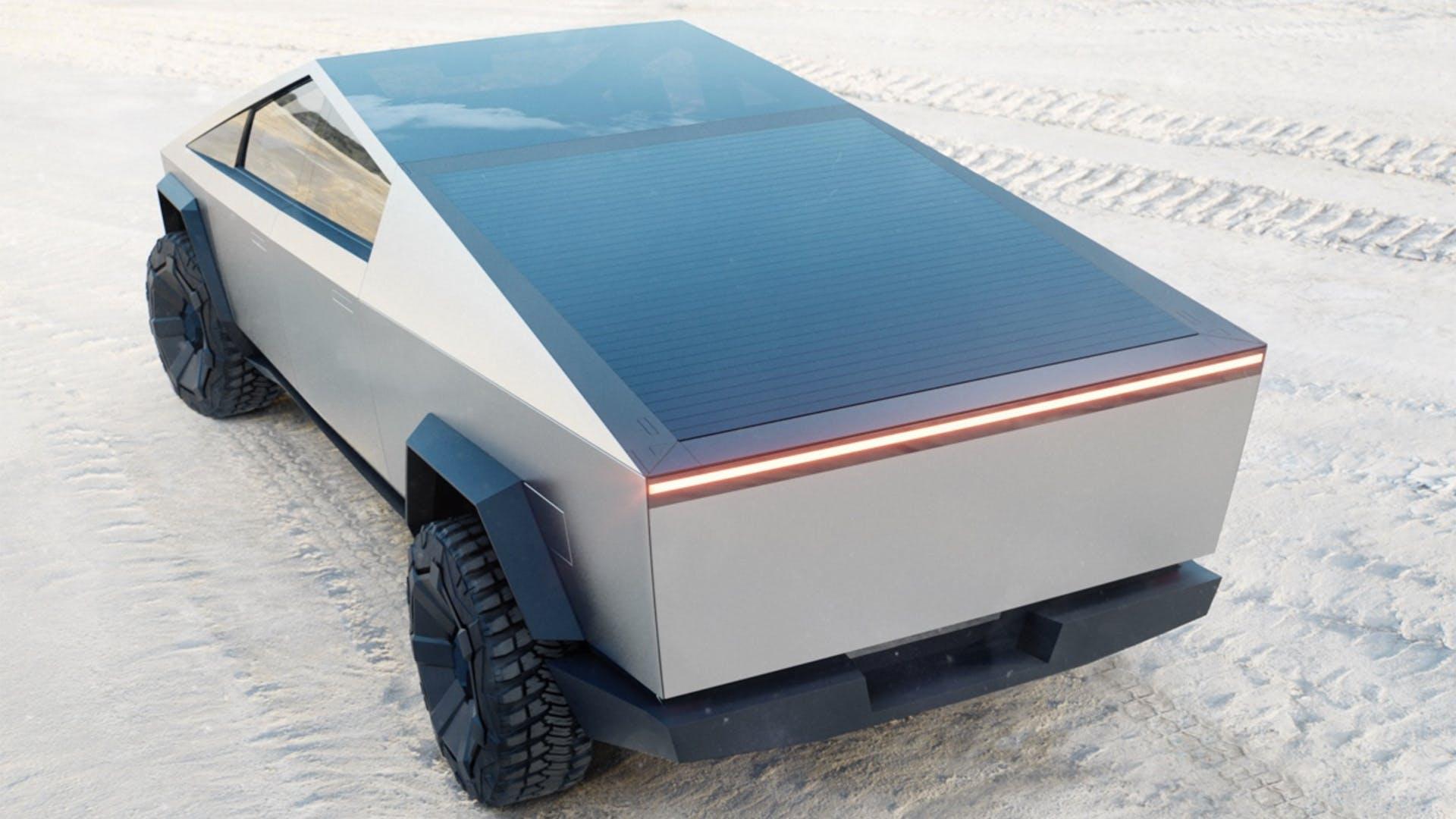 Painel solar da Tesla Cybertruck