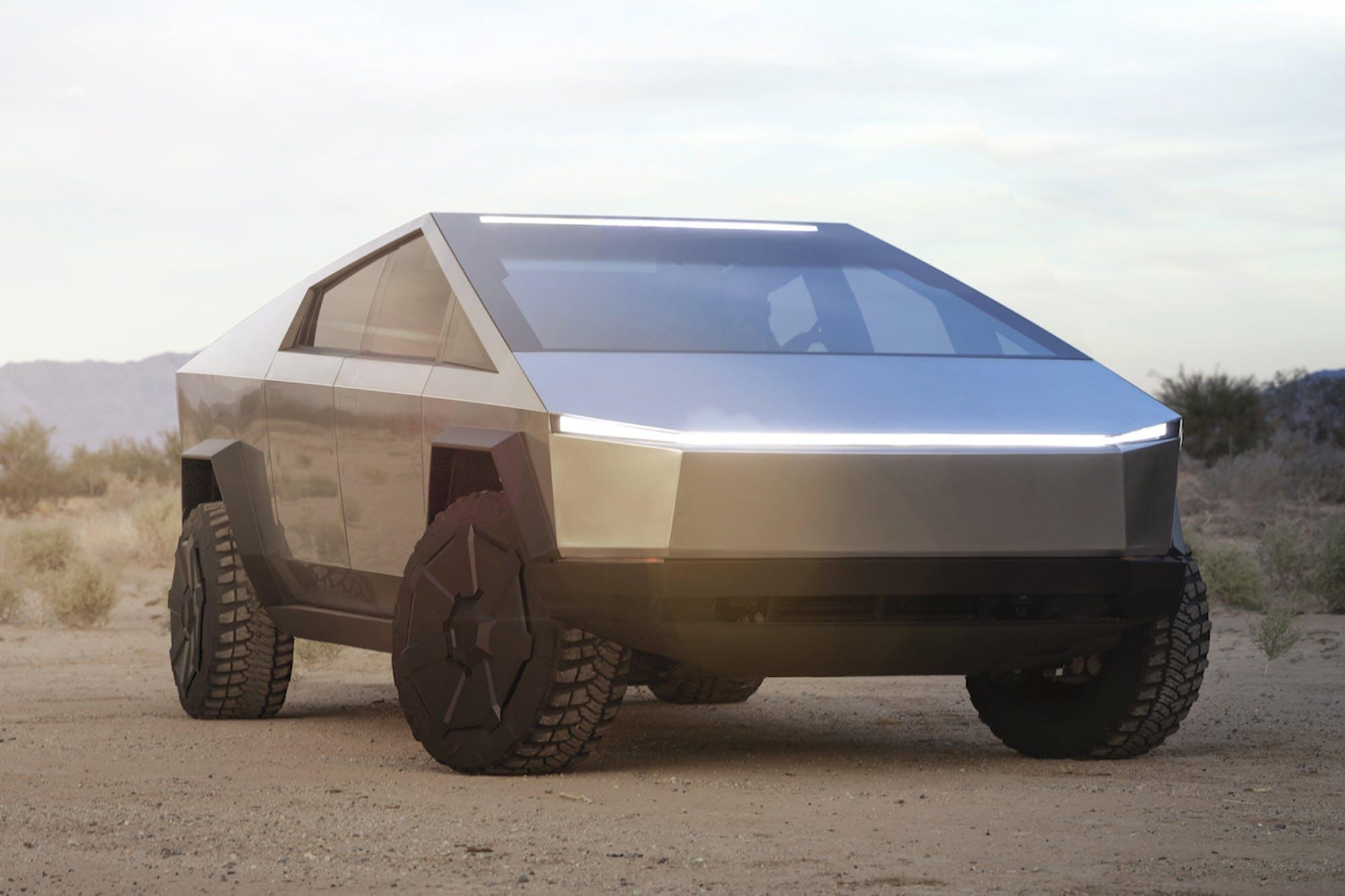 Dianteira da Tesla Cybertruck